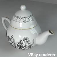 3dsmax porcelain teapot