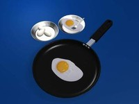 3ds max egg fry pan