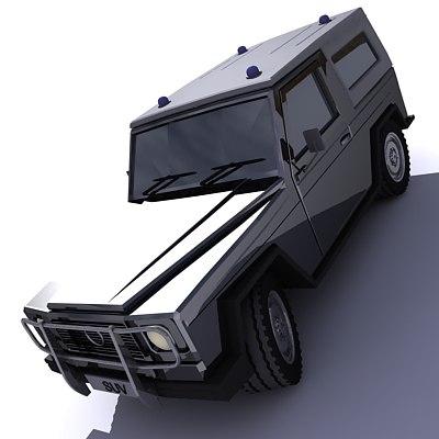 3d model suv car