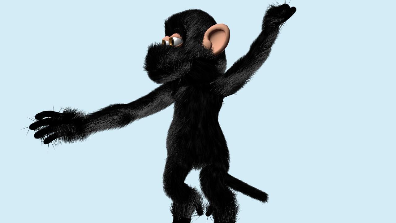 crazey monkey 3d model