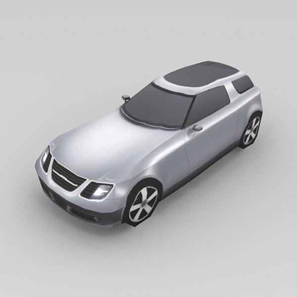 3d car saab 9-x