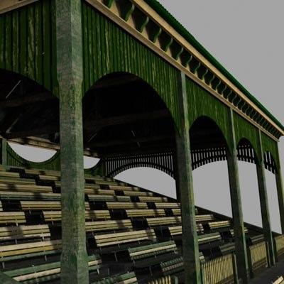 3d old grandstand