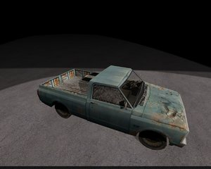 car rusty 3d model