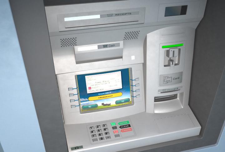 Bank Atm Machine Cash 3d Obj