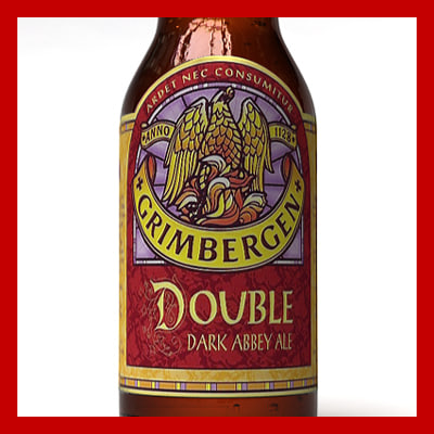 3d grimbergen double dubbel bottle model