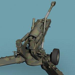 3d model american howitzer