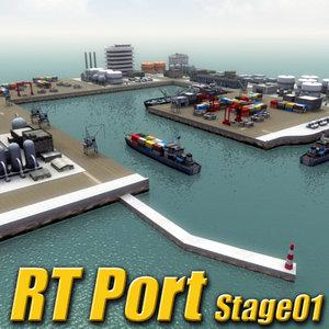 multi port harbour rt 3d 3ds