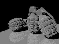 grenades bomb 3d max