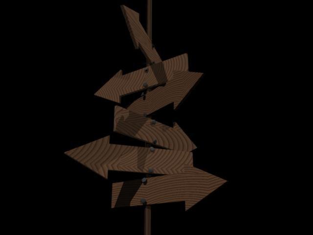 3d model directional arrows