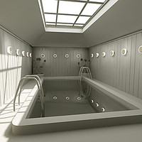 indoor swimming pool 3d model