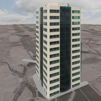 3d modern office building interior model