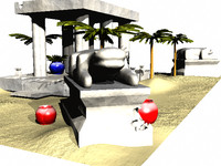 3d lwo desert stone temple