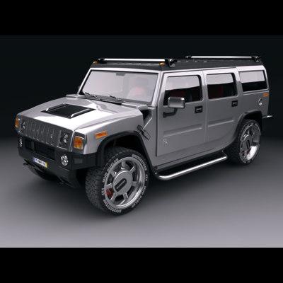 3d model hummer h2