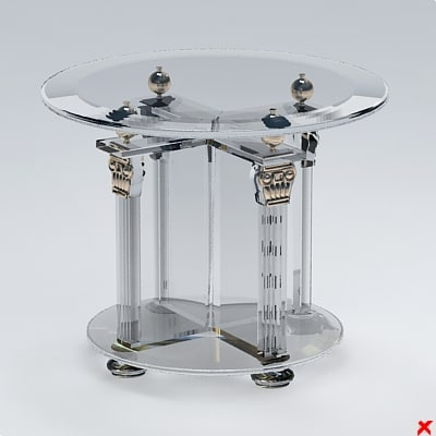 table glass 3d model