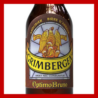 3d model grimbergen optimo bruno bottle