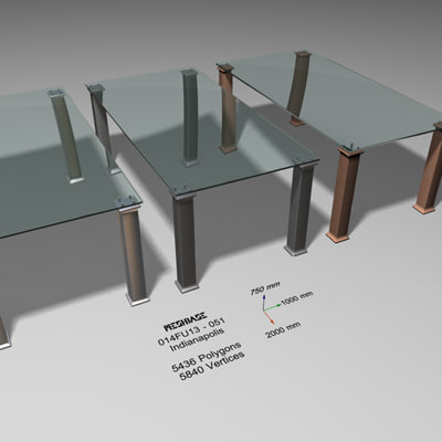 glass dining table - max