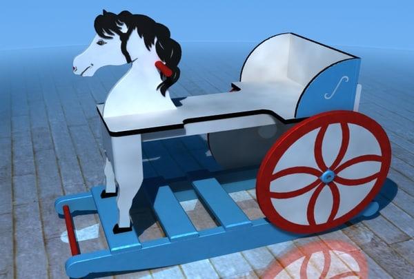 free max mode english rocking horse