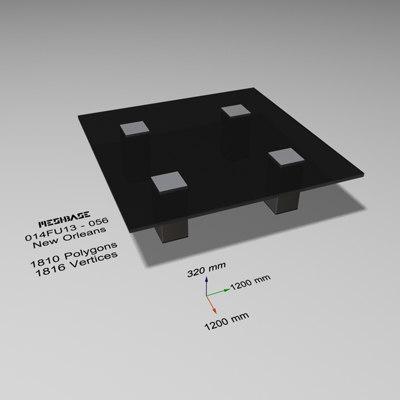 3d model table - trash