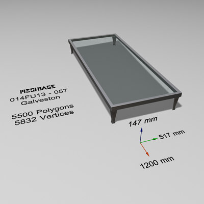3d table - trash model