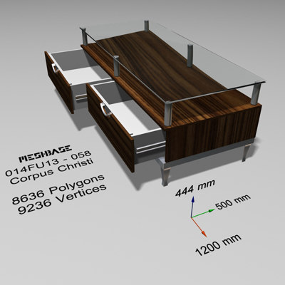 3dsmax table glass -