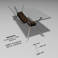 3ds max dining table glass -