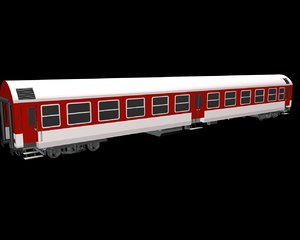 3d trains wagon