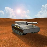 Tank in the desert