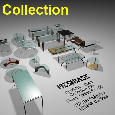3ds max glass tables 041 -
