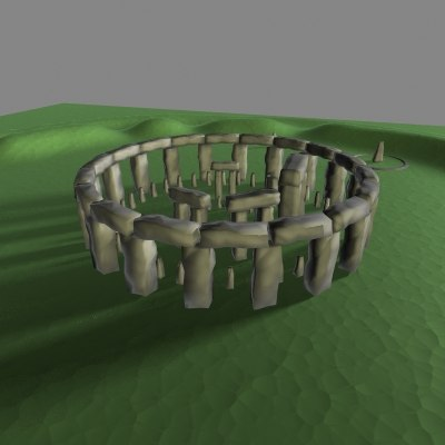 stonehenge wiltshire uk 3d model