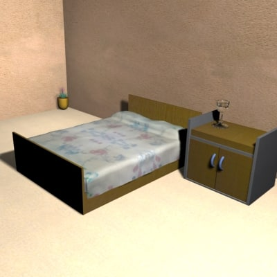 small room 3d 3ds