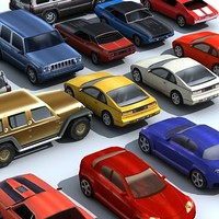 3d vehicles pack cars model