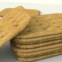 wheat cracker 3d model