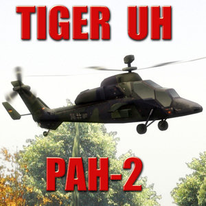 3dsmax pah-2 tiger attack helicopter