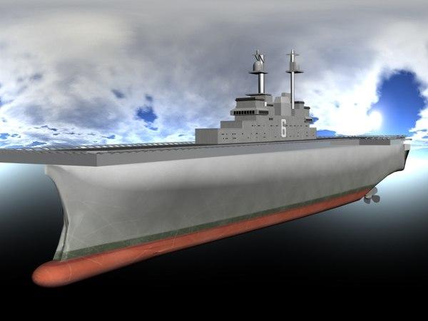 lhd carrier ship 3d model