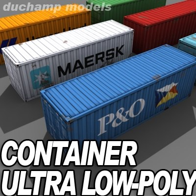 iso containers 3d model