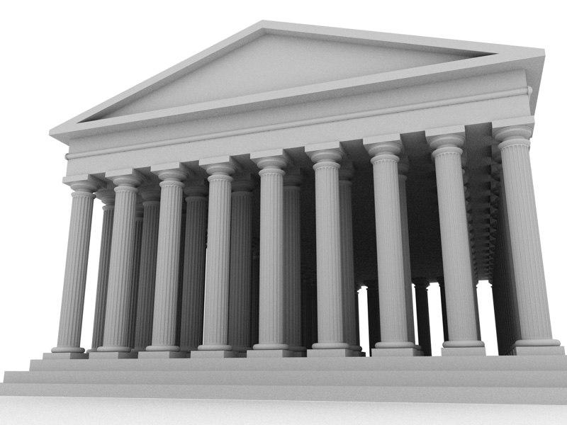 3d model acropolis athen constructed