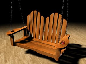 porch swing 3d max
