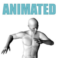 3d male skinned motion model