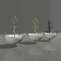 3ds max interior hanging light 002