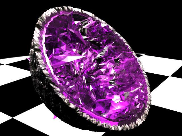 3d geode crystal model