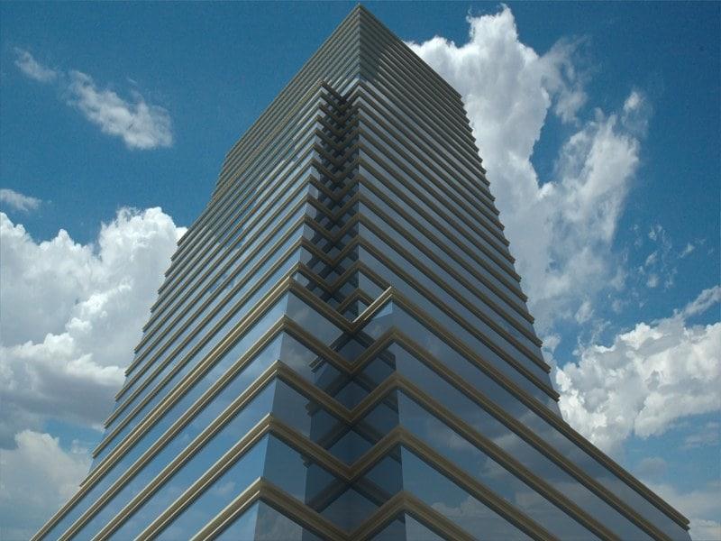 3d model of bloomberg tower skyscrapers