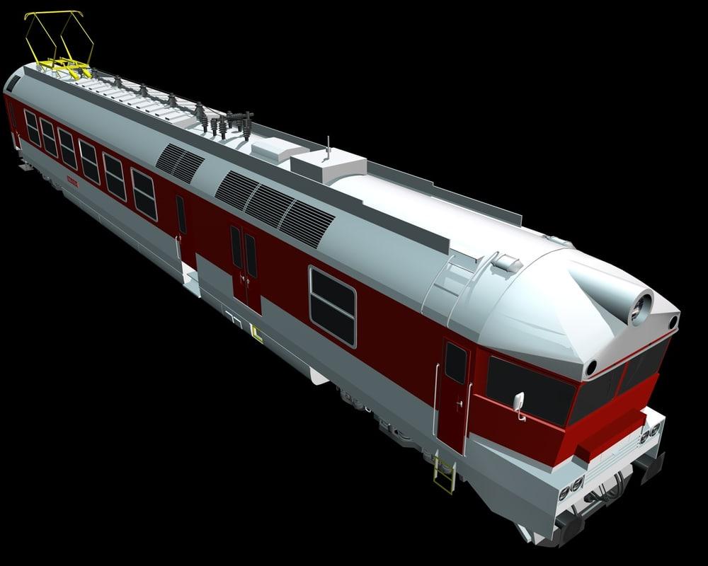 3d locomotive zssk railway model