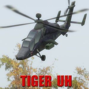 3d pah-2 eurocopter tiger attack helicopter