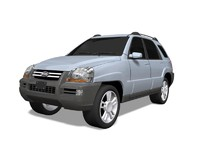 3d model kia sportage utility car