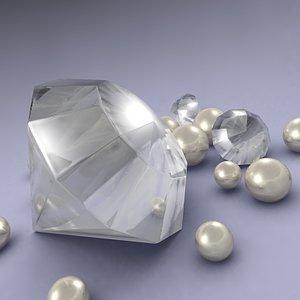 diamond pearls 3d model