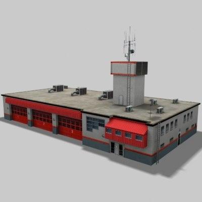 firestation station 3d model