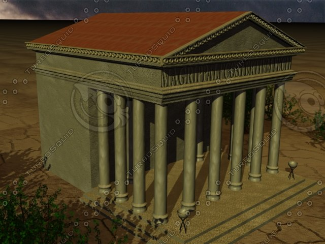 roman building zipped 3d model