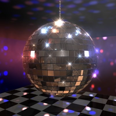 3d mirrorball spiegelkugel model