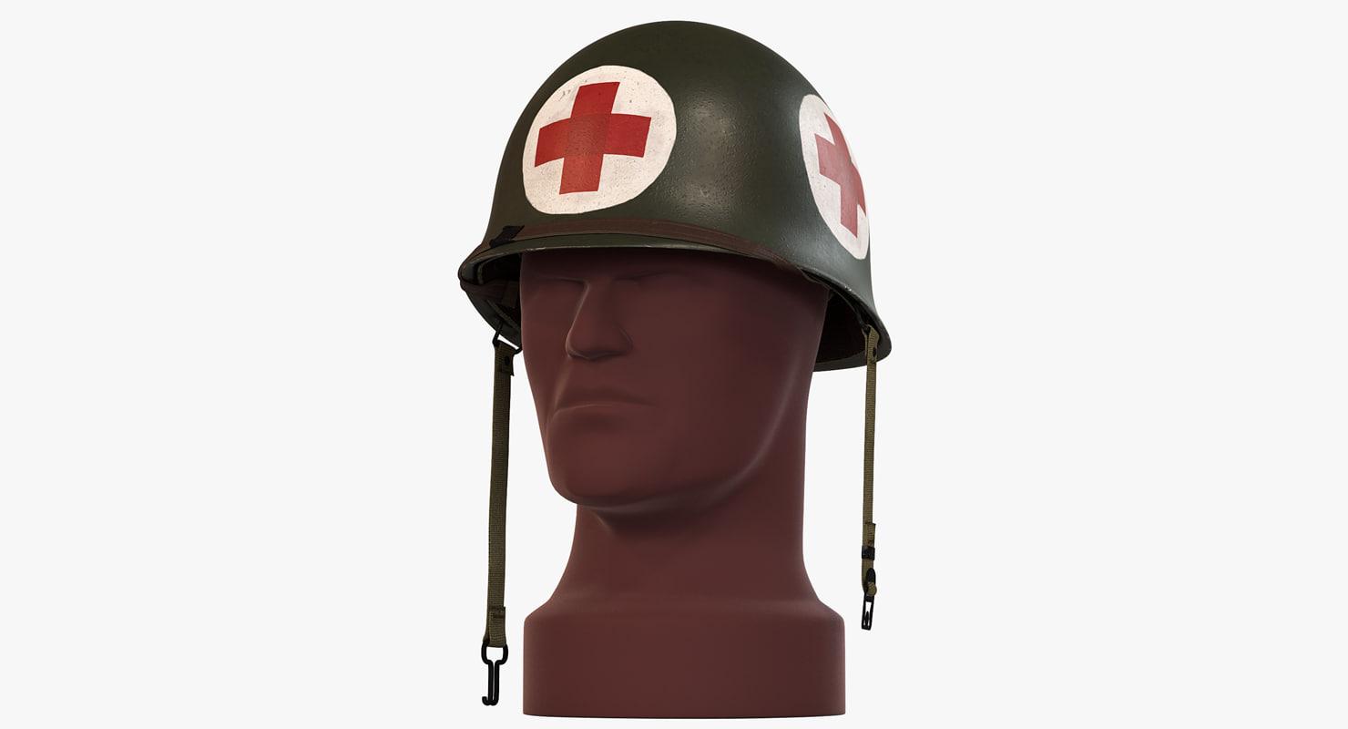 army m1 helmet ww2 3d model