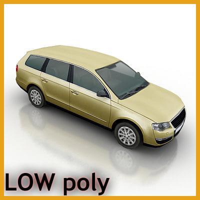 3d model station wagon